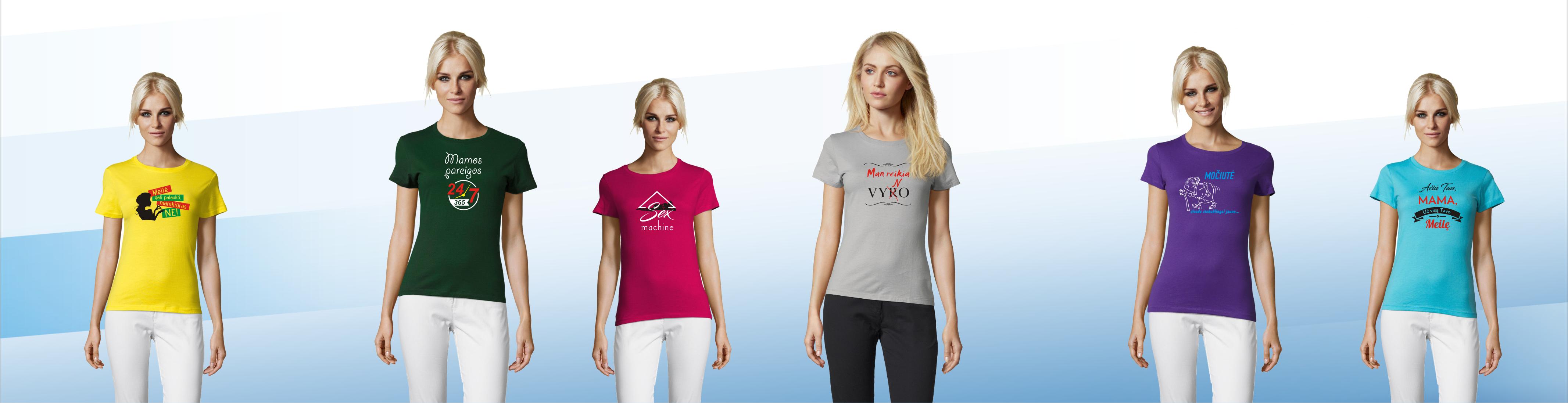 Platus moteriškų marškinėlių pasirinkimas