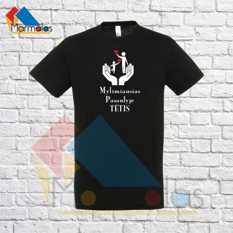 Marškinėliai MYLIMIAUSIAS TĖTIS PASAULYJE