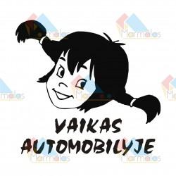 Lipdukas VAIKAS AUTOMOBILYJE (mergaitė)