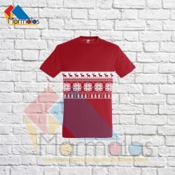 KALĖDINIAI marškinėliai su juosta