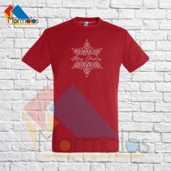 VYRIŠKI KALĖDINIAI marškinėliai su snaige Merry Christmas