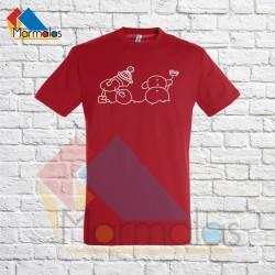 VYRIŠKI KALĖDINIAI marškinėliai su statomu besmegeniu