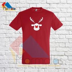VYRIŠKI KALĖDINIAI marškinėliai su elniu raudona nosimi