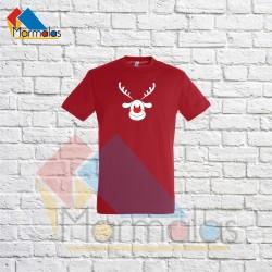 VAIKIŠKI KALĖDINIAI  marškinėliai su elniu raudona nosimi