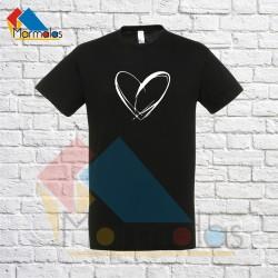 Vyriški Marškinėliai (su širdele)