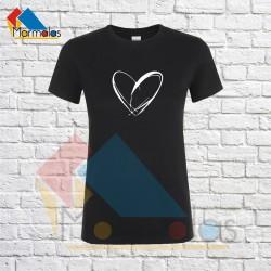 Moteriški Marškinėliai (su širdele)