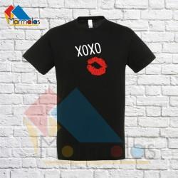Vyriški Marškinėliai XOXO (su bučiniu)