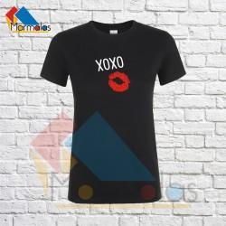 Moteriški Marškinėliai XOXO (su bučiniu)