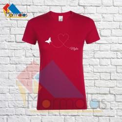 Moteriški Marškinėliai MYLIU (su drugeliu)
